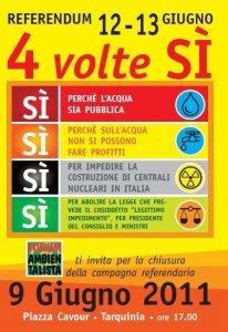 Referendum, a Tarquinia quattro sì per cambiare l'Italia