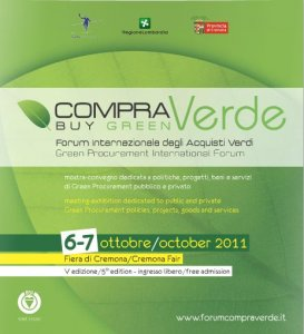 A ottobre il Forum internazionale degli acquisti verdi