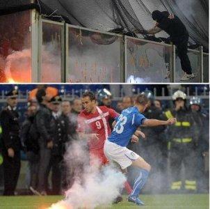 Violenza allo stadio, la rabbia profonda della Serbia