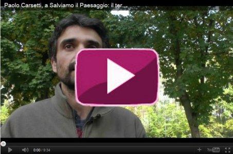 Paolo Carsetti, a Salviamo il Paesaggio: il territorio come l'acqua