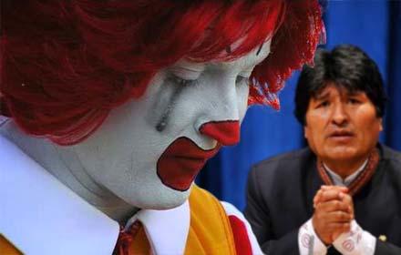 Bolivia: McDonald's se ne deve andare