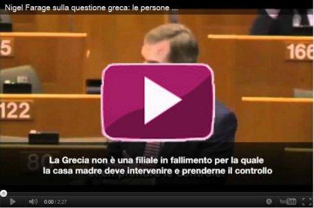 Nigel Farage sulla questione greca.