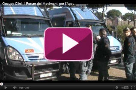Occupy Clini: il Forum dei Movimenti per l'Acqua chiede democrazia