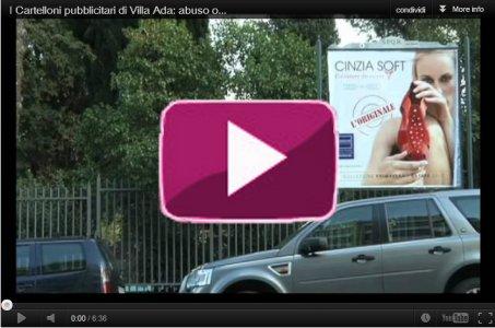 I Cartelloni pubblicitari di Villa Ada: abuso o legalità?