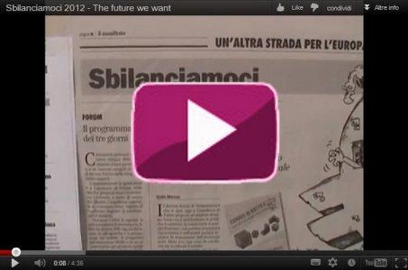 Sbilanciamoci 2012, il futuro che vogliamo
