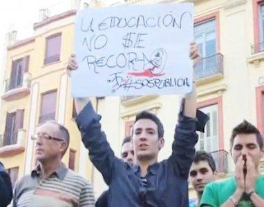 Madrid, la crisi spagnola e le proteste degli indignati