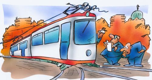 Prendo il tram, che inquina meno e costa poco