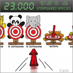 Quasi 23.000 specie stanno per estinguersi