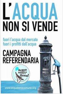 Acqua, il 26 marzo si manifesta per i due sì al referendum