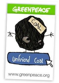 Greenpeace a Facebook: fuori dal carbone entro il 22 aprile