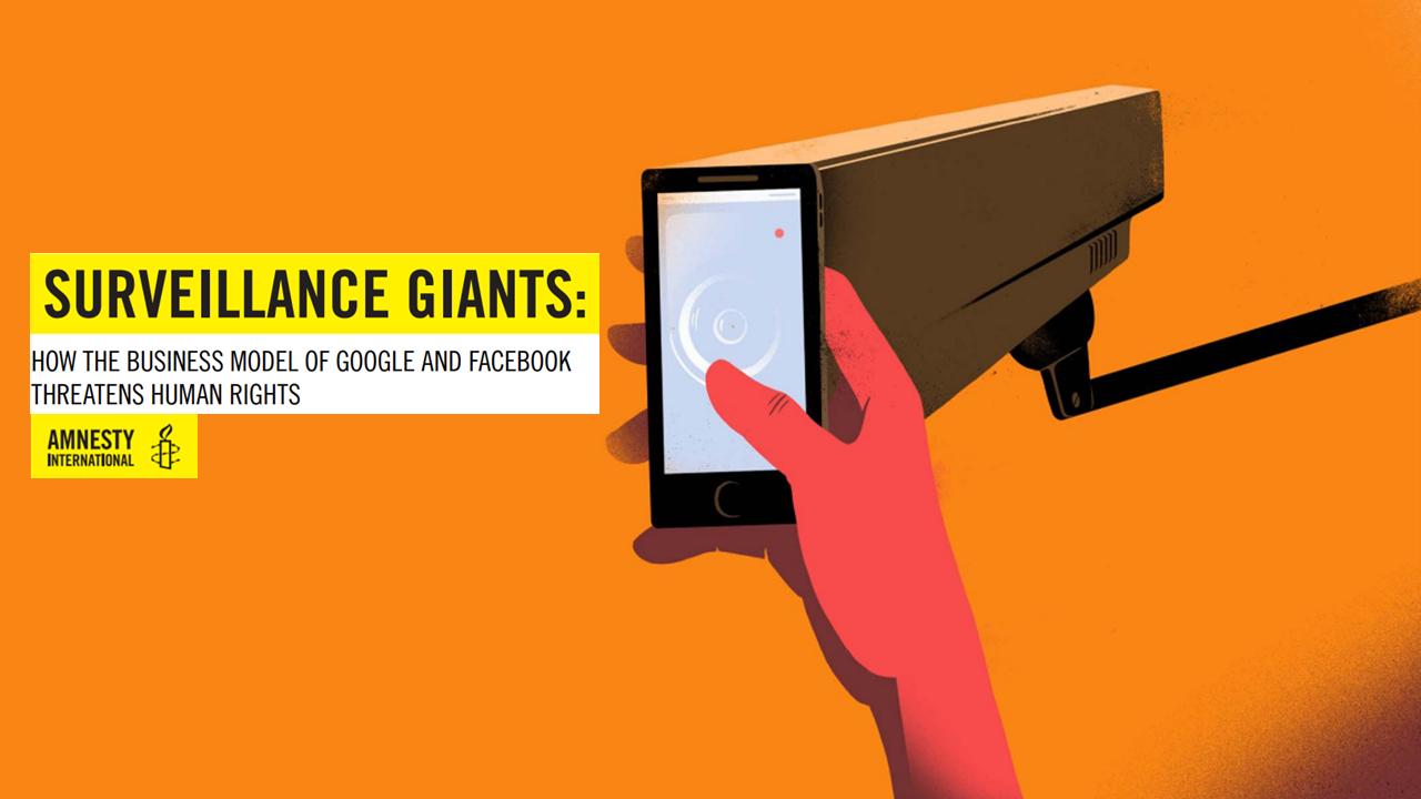 Amnesty: «Facebook e Google minaccia per i diritti umani»