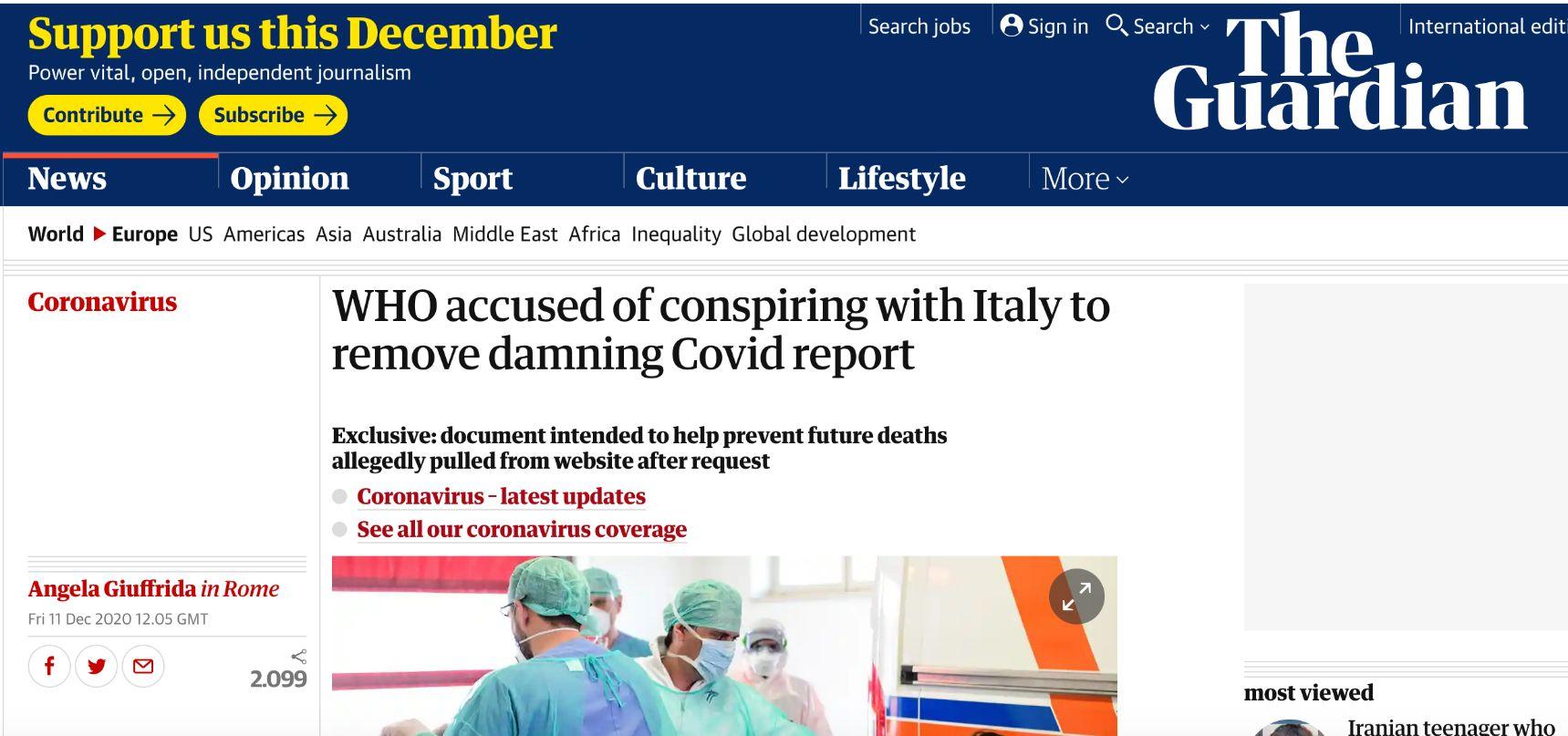 Covid e piano pandemico. Zambon (OMS): «Pronto ad andare in Procura a Bergamo ma mi è impedito»