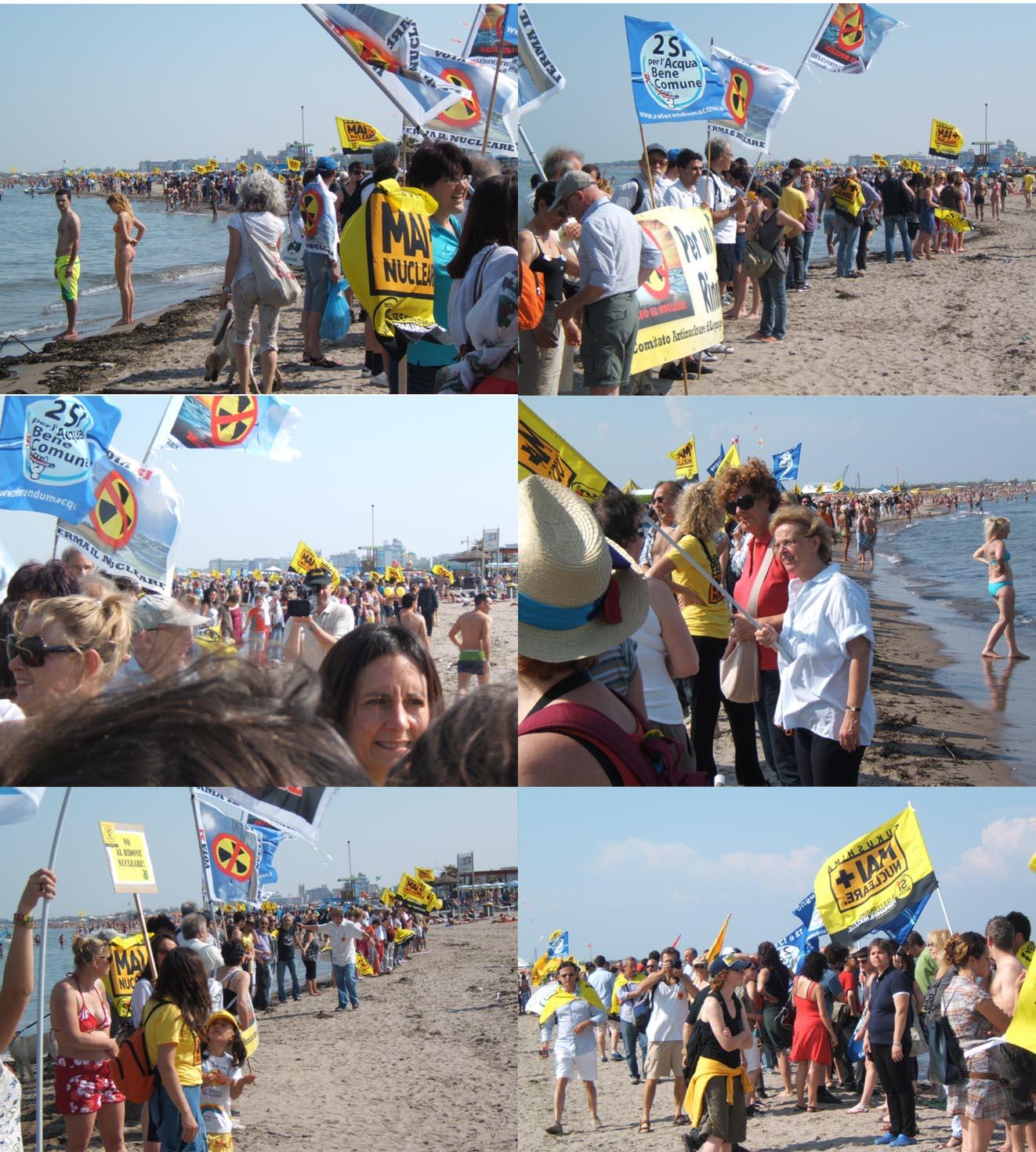 Referendum: catene umane nel weekend, a Montecitorio il presidio permanente