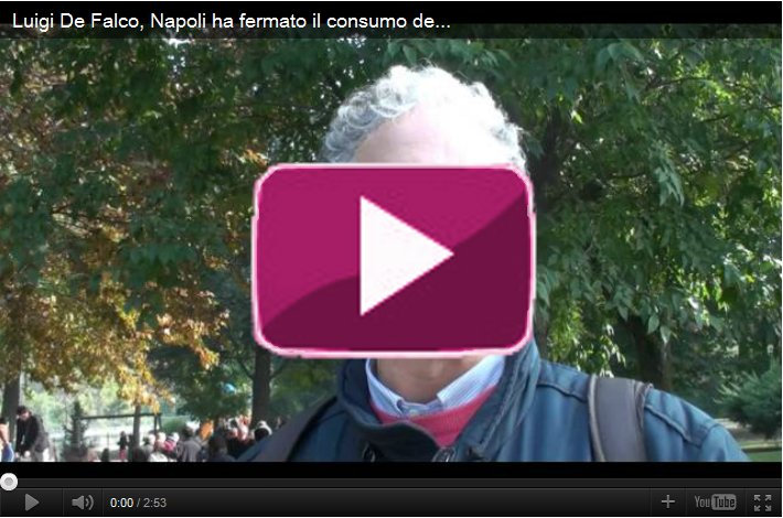 Luigi De Falco, Napoli ha fermato il consumo del territorio