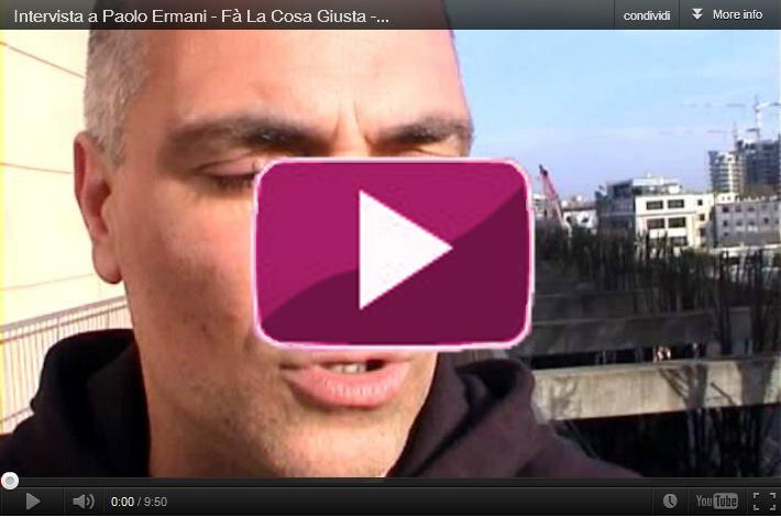 Paolo Ermani a Fà la cosa giusta