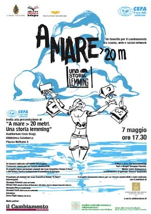 """""""A mare > 20 metri. Una storia lemming"""", un fumetto per il cambiamento"""