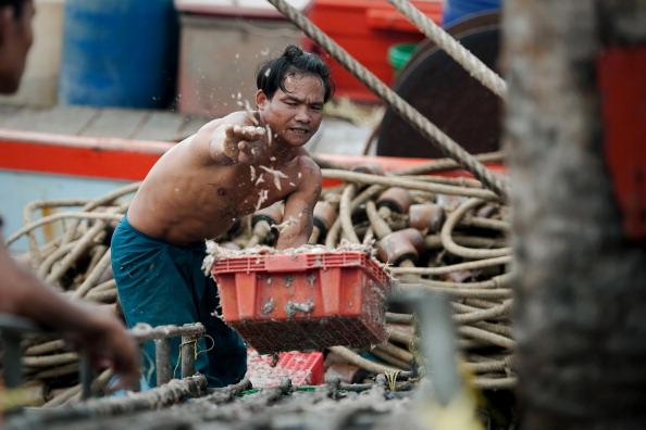 Gli schiavi dietro i gamberi dall'Asia