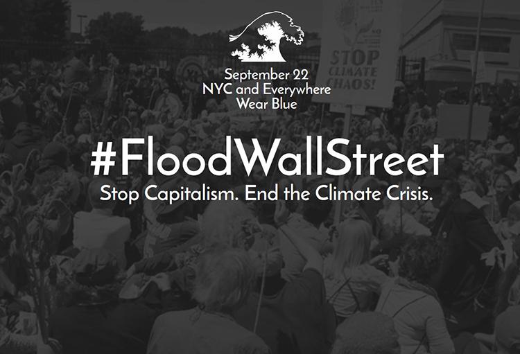 #FloodWallStreet, un'onda blu per salvare il pianeta