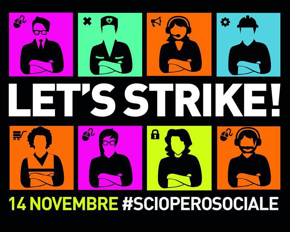 Verso le sciopero sociale: il 14 novembre non tappatevi occhi e orecchie