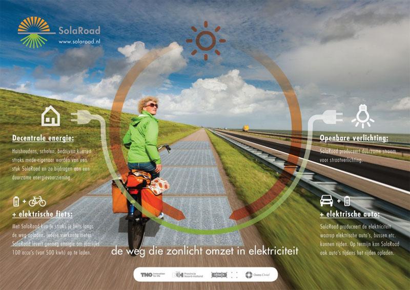 SolaRoad, ad Amsterdam la prima pista ciclabile ad energia solare