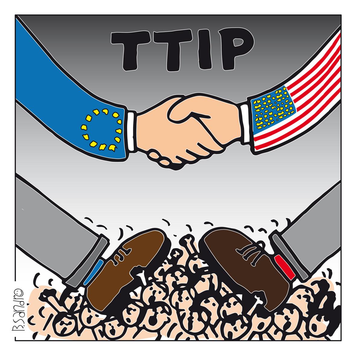 Il TTIP ci schiaccerà