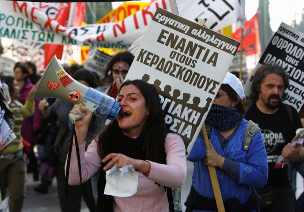 La Grecia in rivolta contro l'austerity