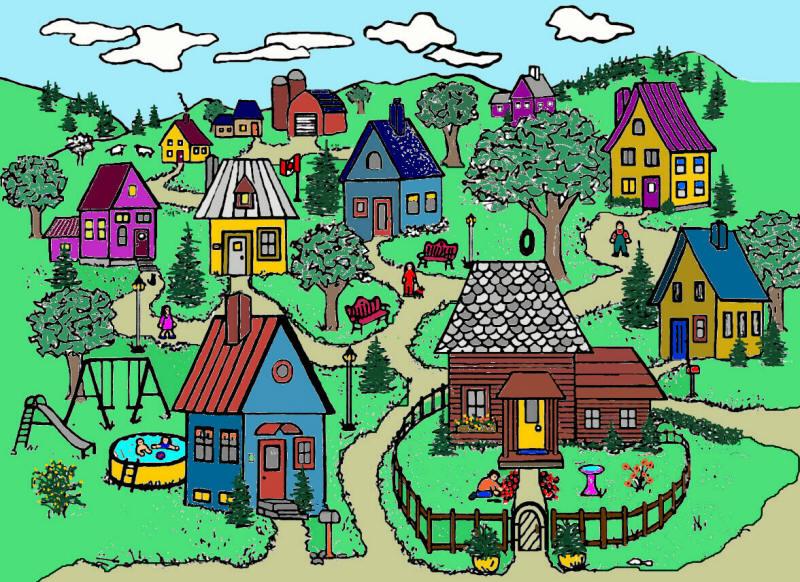 Ecovillaggio solare, una città verde nella campagna umbra