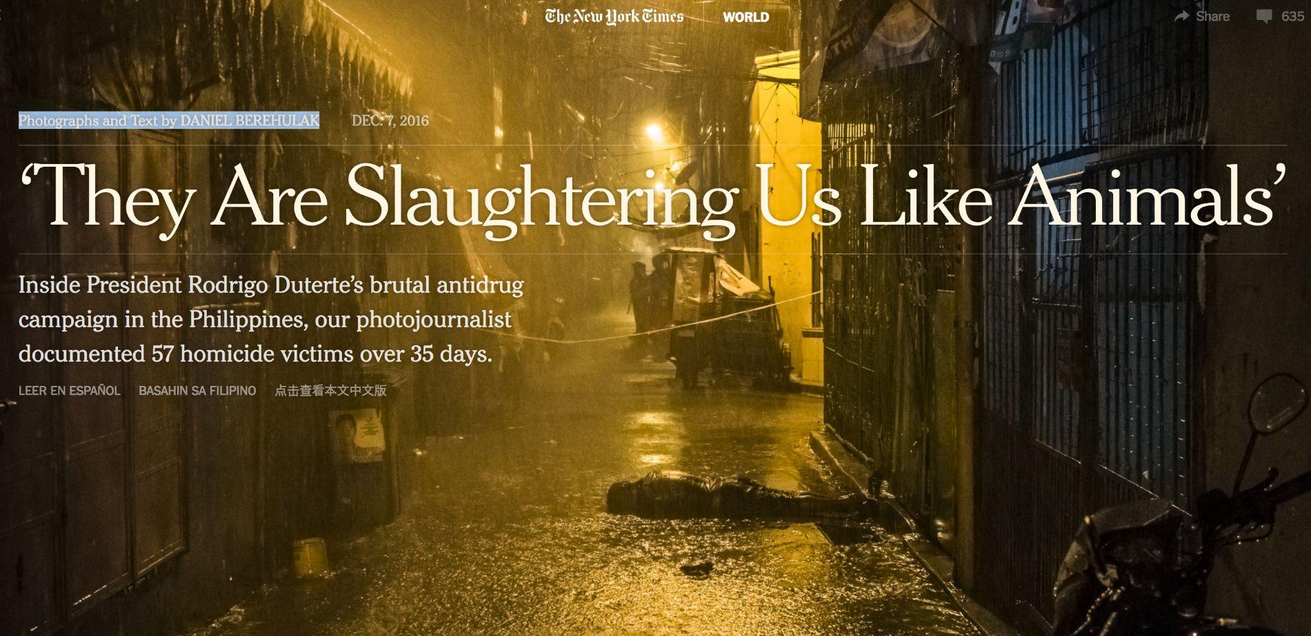 «Ci stanno massacrando come bestie»