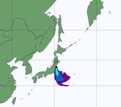 Fukushima, la nube radioattiva diretta in Europa