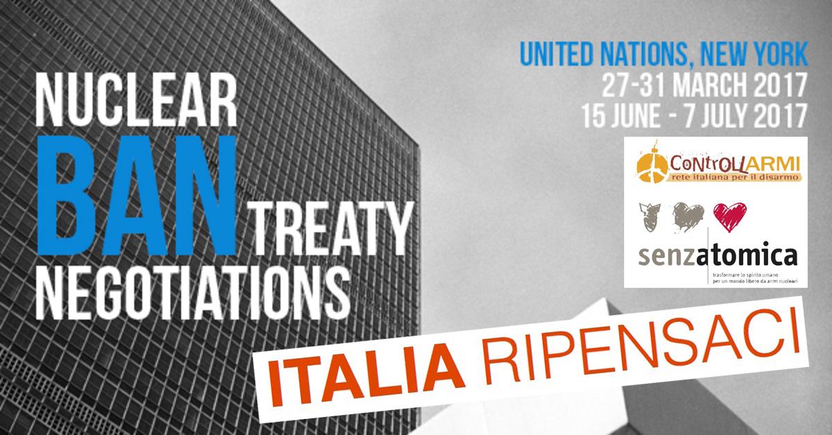 SenzAtomica: l'Italia partecipi ai negoziati