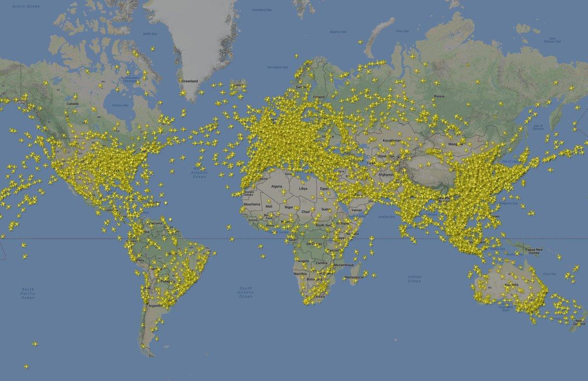 In cielo più aerei che stelle e l'ambiente... ringrazia